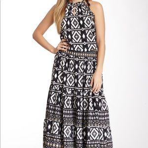 Hale Bob Printed Halter Maxi Dress Size M